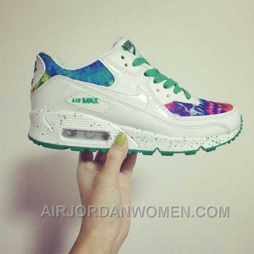 Nike Air Max 90 Womens White Green For Sale ATDW2
