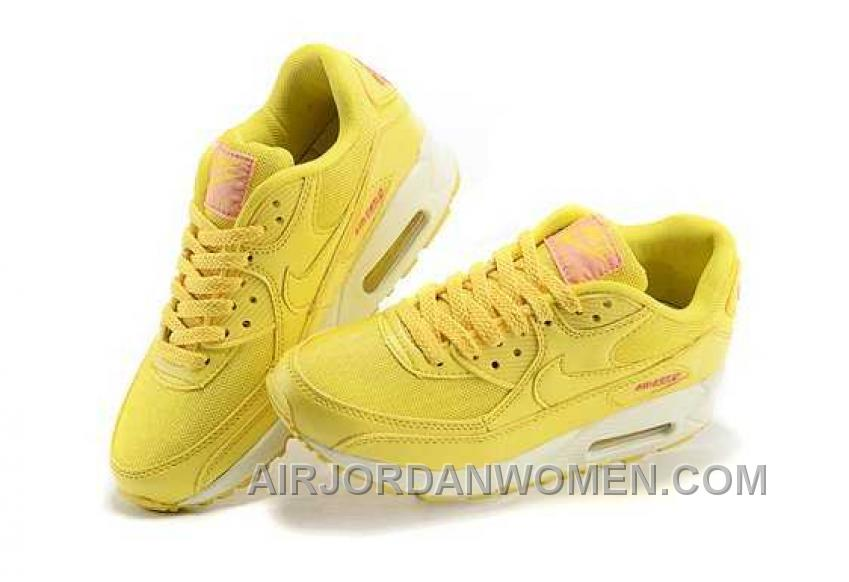 Nike Air Max 90 Womens Yellow For Sale Hx6SH