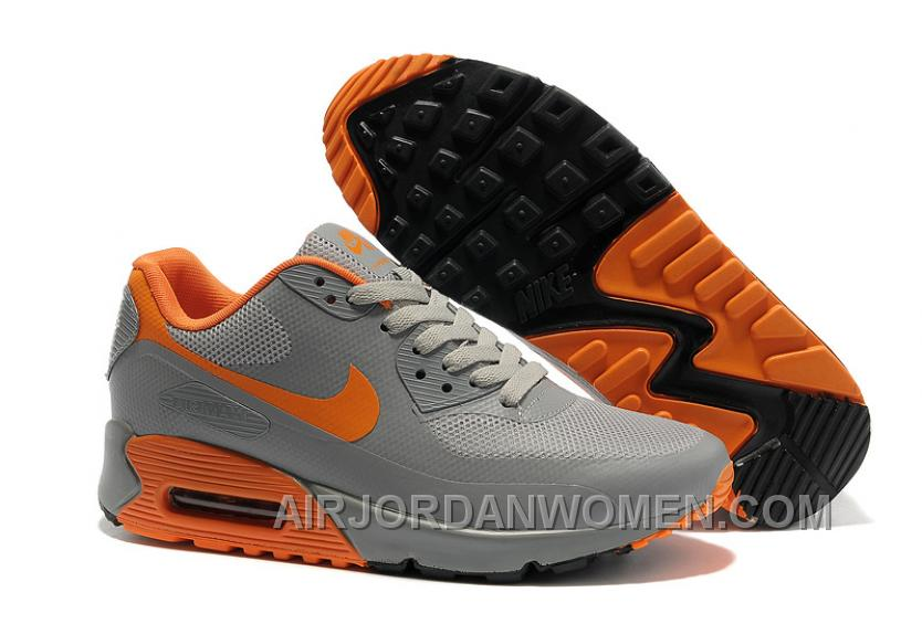 Nike Air Max 90 Hyperfuse Womens Orange Grey Free Shipping XXzca
