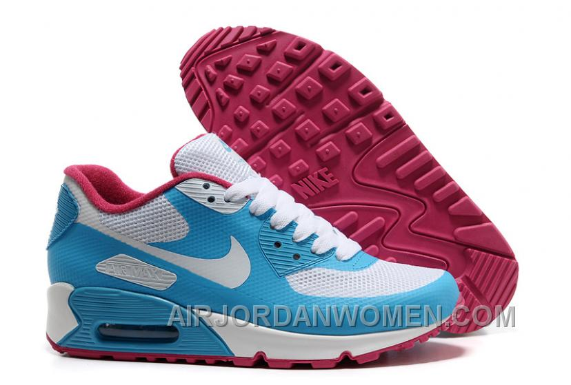 Nike Air Max 90 Hyperfuse Womens Skyblue White Free Shipping XsRAD