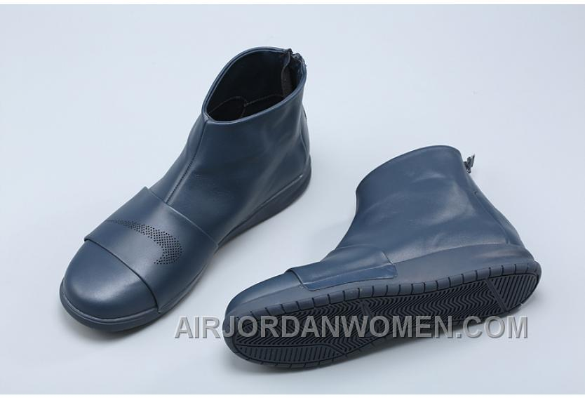 Nike Benassi Boot 819683-400 Men Boots Genuine Leather High Navy Blue Top Deals