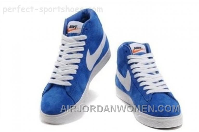 Nike Blazer Womens Shoes For Sale POopular Blue White Cheap 424428