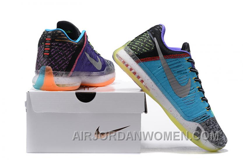"2016 Nike Kobe 10 Elite Low ""What The"" For Sale Discount 4JJmi"