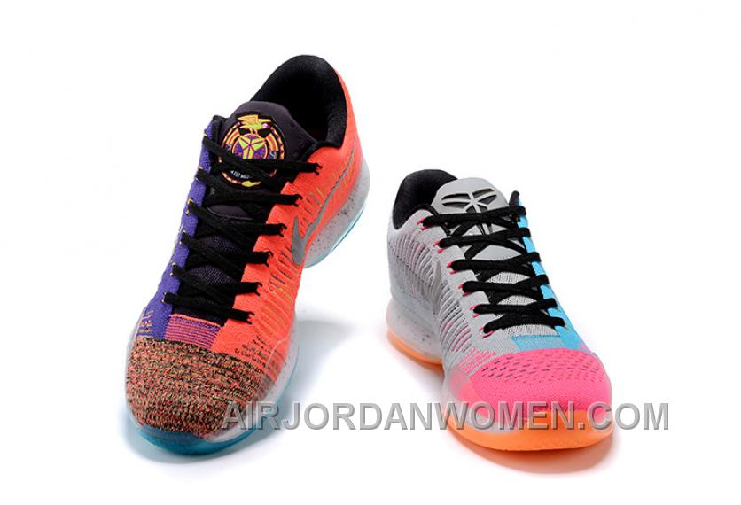 "2017 Nike Kobe 10 Elite Low Multi-Color ""What The"" Authentic RSbCyC"