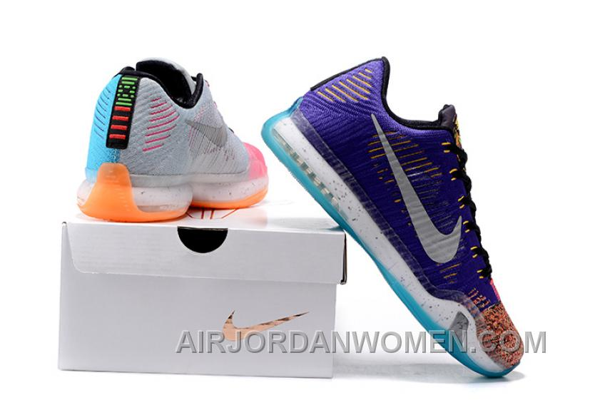 "2017 Nike Kobe 10 Elite Low Multi-Color ""What The"" Mens Basketball Shoes Top Deals KCkXb"