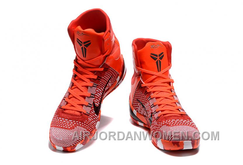 Nike Kobe 9 High Woven Christmas Red 2017 Men Shoes Copuon Code MJsr4