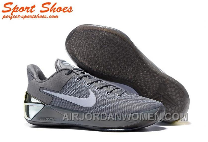Nike Kobe A.D. Sneakers For Men Low Silver Gray New Style JFeM26