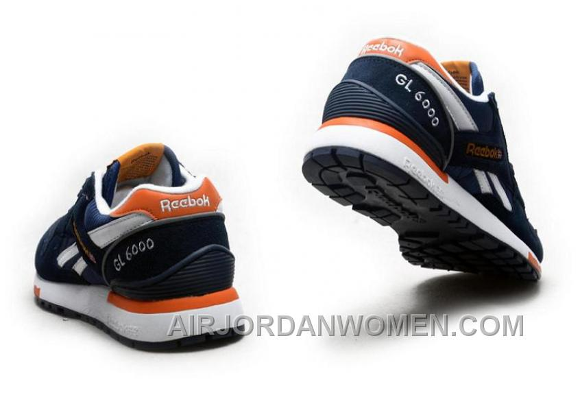 Reebok GL6000 Mens Classic Running Deepblue Orange Lastest HscNP