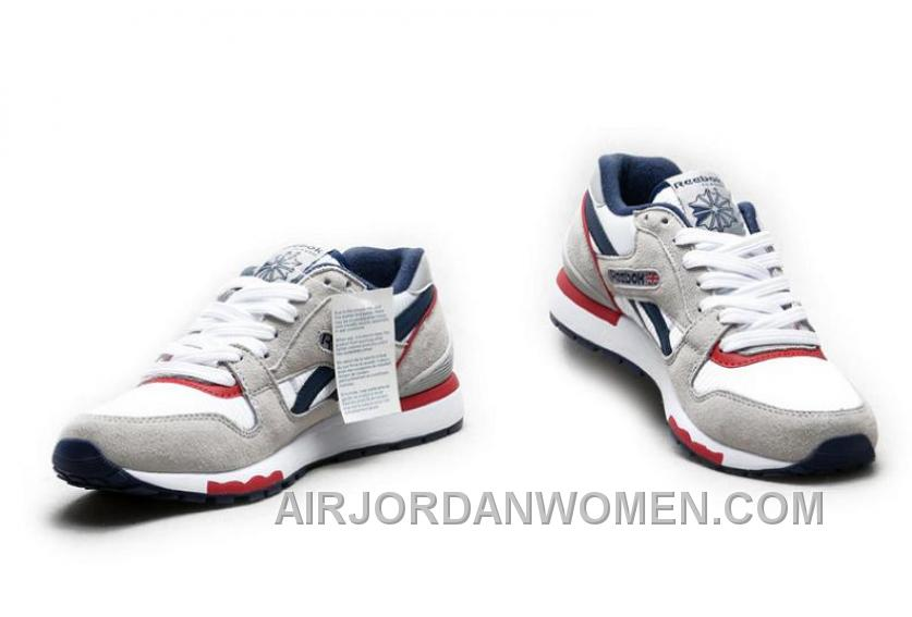 Reebok GL6000 Mens Classic Running Grey Deepblue Red Authentic Hnn87