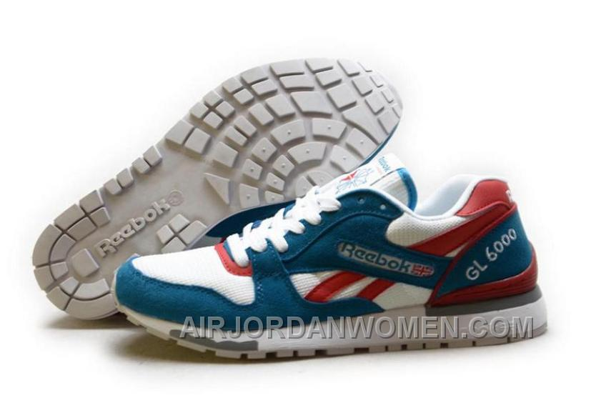 Reebok GL6000 Mens Classic Running White Blue Red Lastest Ms4Re