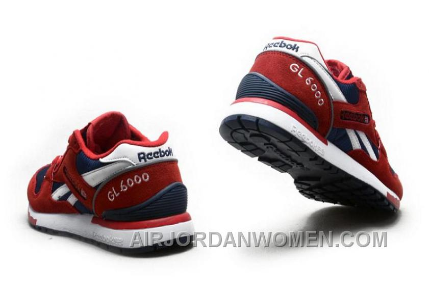 Reebok GL6000 Womens Classic Running Red Deepblue Lastest Bmwhr