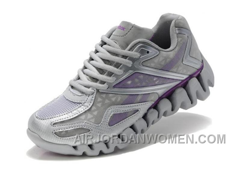 Reebok Womens ZigSonic Running Gray Purple Cheap To Buy P4Nw8