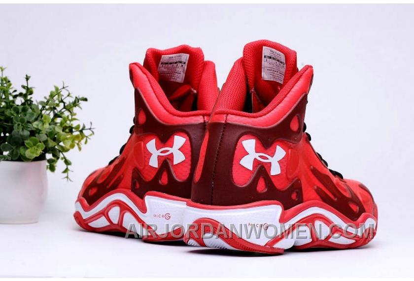 Authentic Under Armour Micro G Anatomix Spawn 2 Red White Super Deals FKATjF2