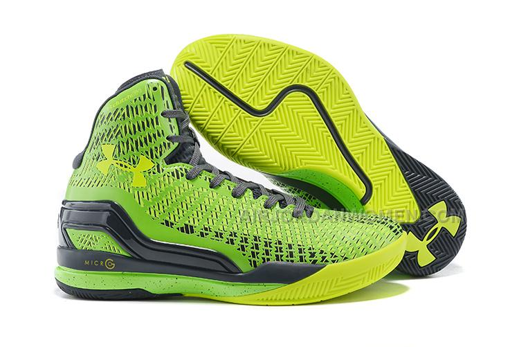 check out 1ddd0 af2f2 High Quality Free Shipping Under Armour ClutchFit Drive Stephen Curry PE  Green Volt Black