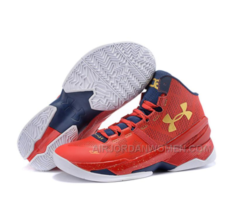77a1e4a6d7aa High Quality Free Shipping Under Armour Stephen Curry 2 Shoes Father And  Son Red