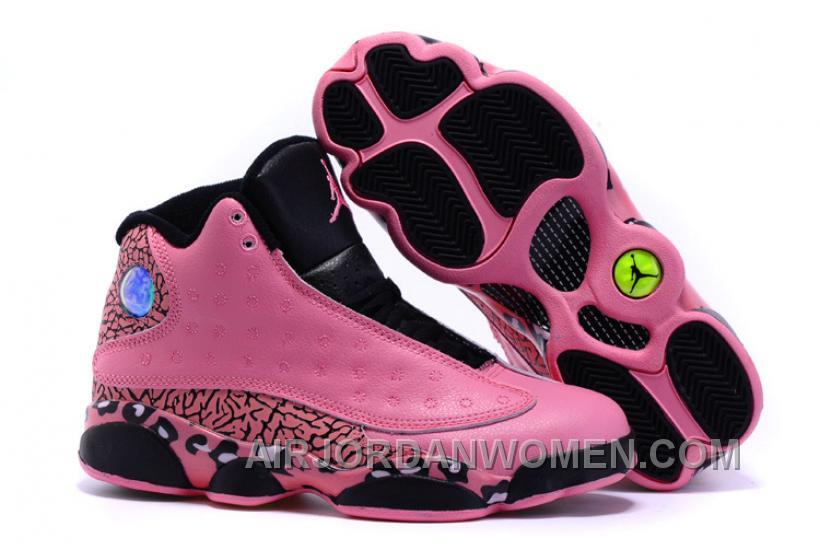 Women Air Jordan 13 Limited Collection Pink Leopard