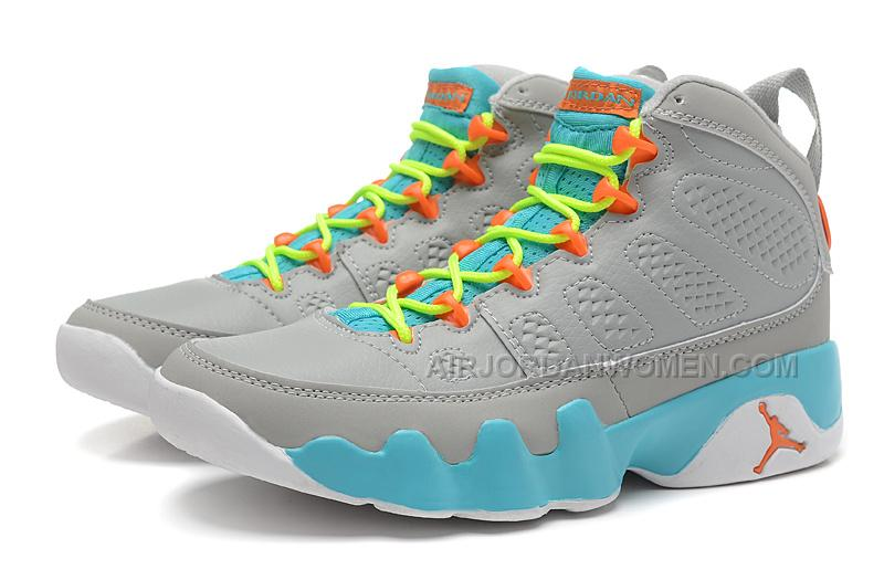... girls air jordan 9 womens grey green orange for sale in women size air  jordan 2013110805240919219; air jordan retro ...