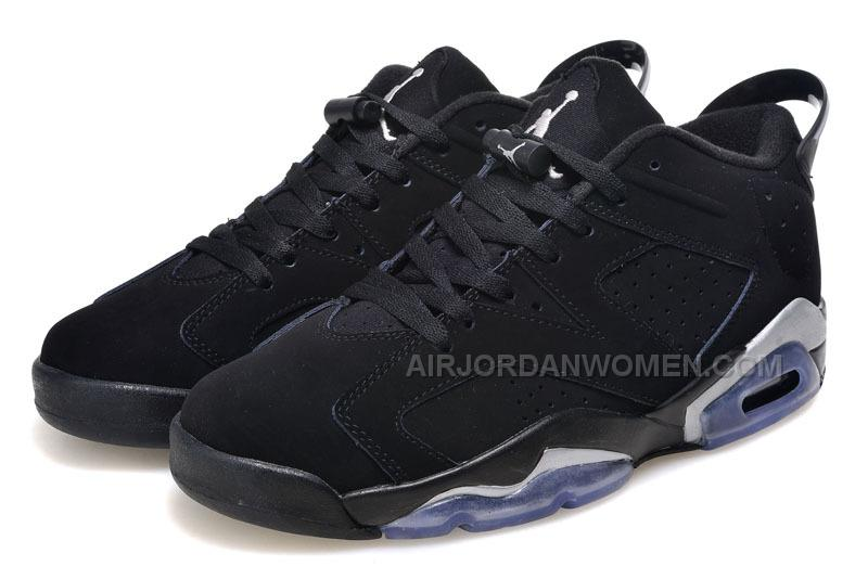 "2015 Air Jordan 6 Low ""Black/Metallic Silver"" For Sale"