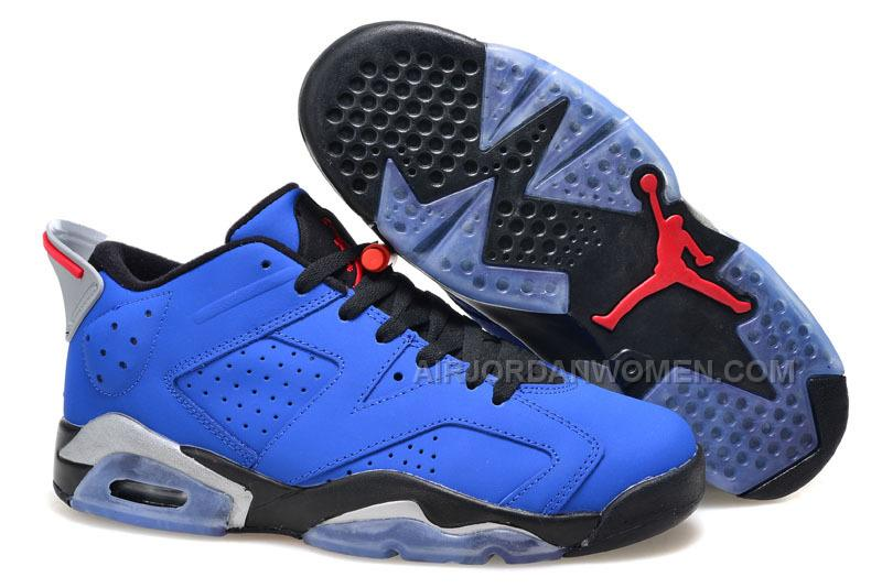 "2015 Air Jordan 6 Low ""Eminem"" Blue Black/Grey For Sale"