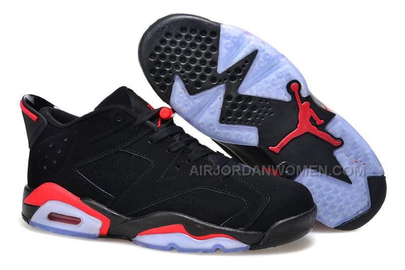 10ee82b9fd3c50 2015 Air Jordan 6 Low Black Infrared 23-Black Shoes