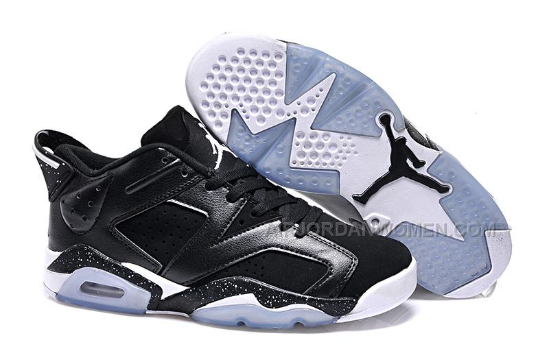 "2015 Air Jordan 6 Low GS ""Black Oreo"" Cheap For Sale Online"
