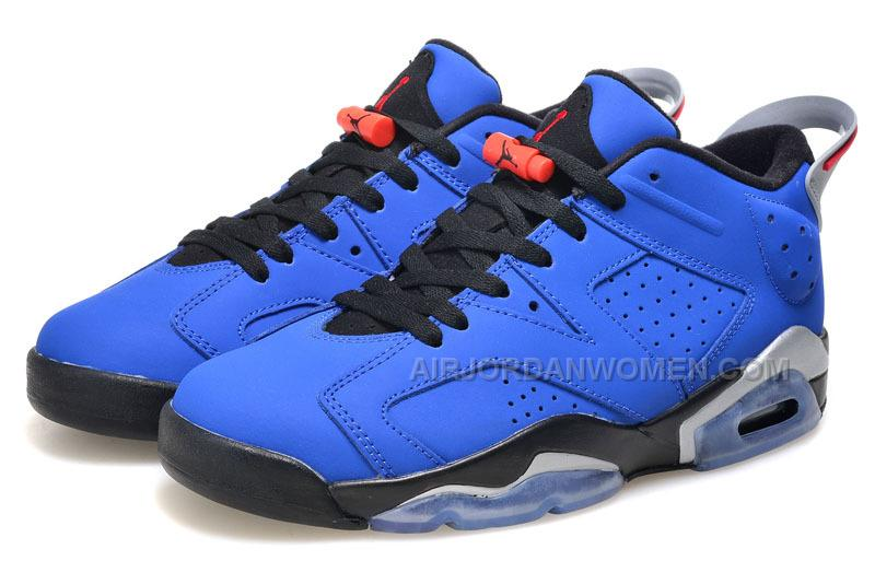 "2015 Air Jordan 6 Low GS ""Eminem"" Blue Black/Grey For Sale"
