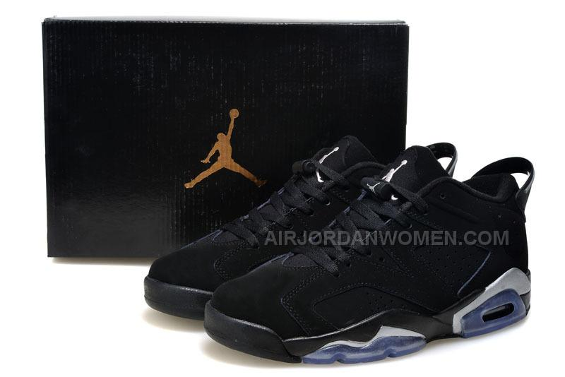 "2015 Air Jordan 6 Low GS ""Chrome"" Black/Metallic Silver-White For Sale"