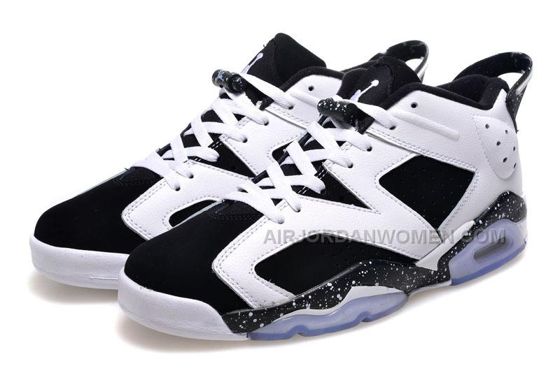 2015 Air Jordan 6 Low GS Oreo Cheap For Sale Online