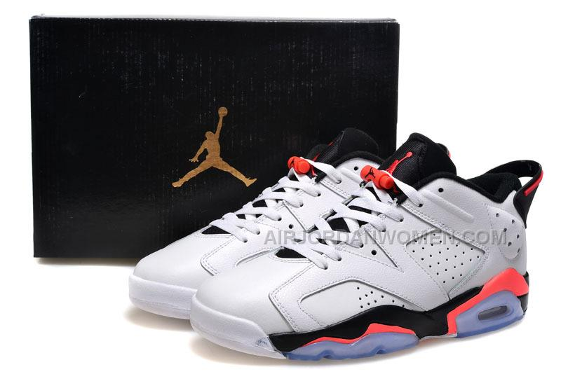 "2015 Air Jordan 6 Low GS ""White Infrared"" Cheap For Sale"
