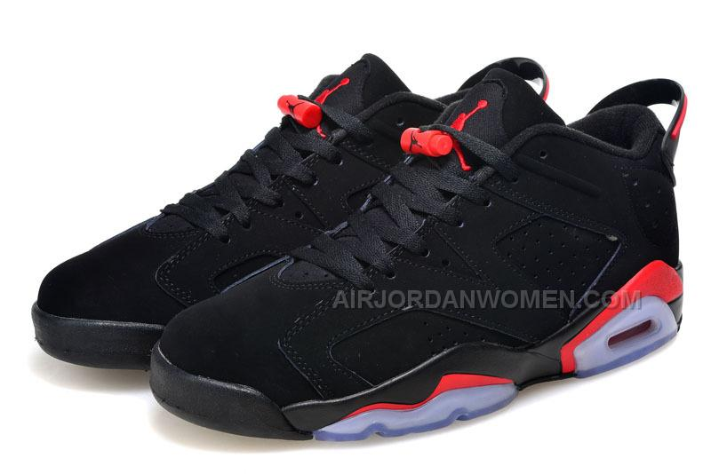 2015 Air Jordan 6 Low GS Black/Infrared23-Black Cheap For Sale Online