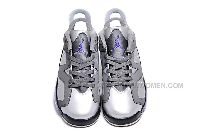 low priced f6940 426a6 Women Air Jordan 6 Low Ultraviolet Grey Leather purple Green Size 5.5 -8  for sale