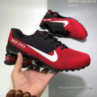 Nike AIR SHOX FLYKNIT Zoom Running Shoes 2018 Russia FIFA World Cup RED BLACK Free Shipping