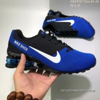 Nike AIR SHOX FLYKNIT Zoom Running Shoes 2018 Russia FIFA World Cup BLUE Latest