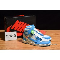 313 Blocks OG Pure The Air Jordan 1 X OFF-WHITE UNC North Carolina Blue Size Outlet