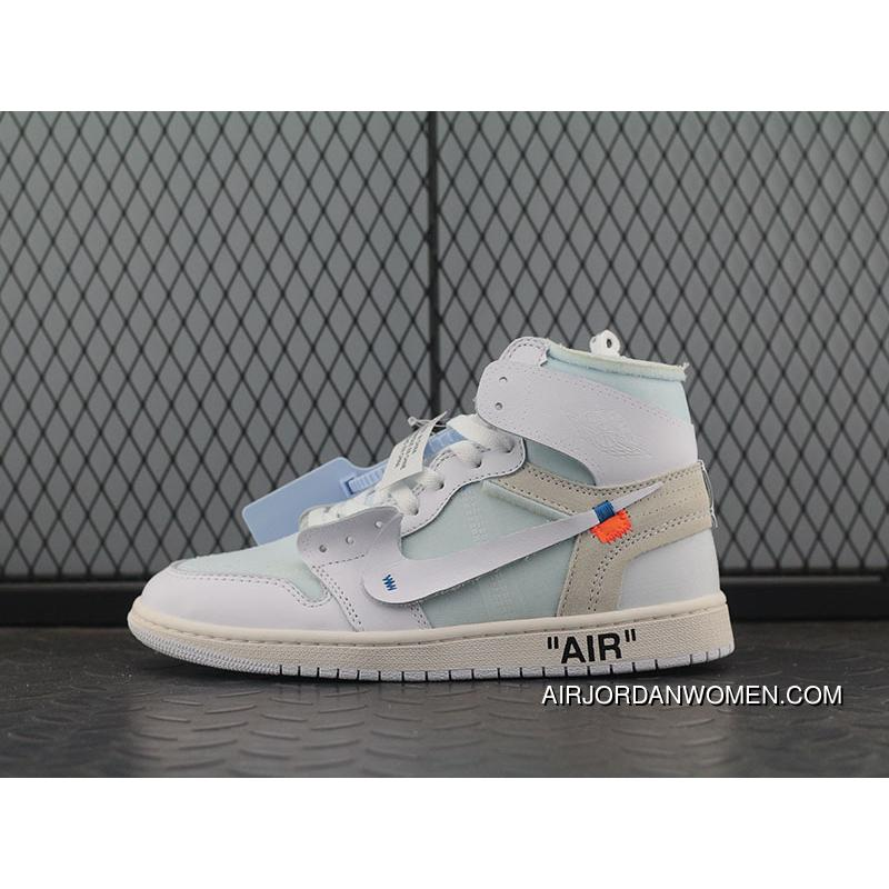 166fc6ecead ... OG Version Aj1ow Pure White Collaboration OFF-WHITE X Air Jordan 1 White  Pure White ...