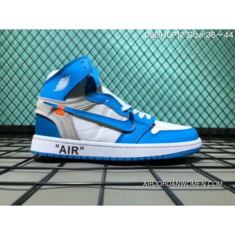 release date b97c0 dacc1 160 Off-White Jordan 1 X Powder Blue AJ1 Air 1 Paired Off North Carolina  Blue Chicago Pure White Size 6 Dhlp12 Top Deals