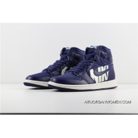 HyxAir Jordan Air 1 Paired With Blue Font 555088-400 Latest