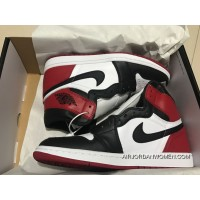 St Version Air Jordan 1 Full Grain Leather Black Toes Men Shoes Women Shoes 36-39 All Size For Sale