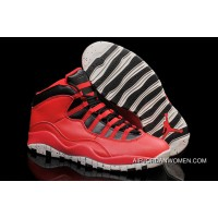 Air Jordans 10 Gym Red Gym Red/Black-Wolf Grey Shoes New Release