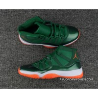Air Jordan 11 Miami Hurricanes PE Green Women/Men For Sale