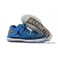 For Sale 2017 Air Jordan 31 XXXI Low Marquette University Blue/Amarillo-Midnight Navy