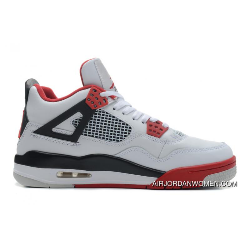 new product d2bf0 365da New Release Air Jordans 4 Retro White/Fire Red-Black