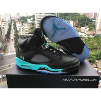 2017 Air Jordan 5 Retro Black/Hyper Jade Outlet