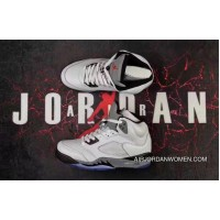 2017 New Release Air Jordan 5 Retro White/Cement Custom Online