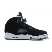 Free Shipping Air Jordans 5 Retro Oreo Black/Cool Grey-White