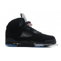 For Sale Air Jordans 5 Retro Black/Varsity Red-Metallic Silver
