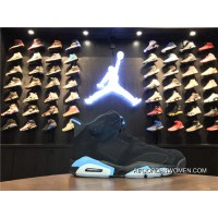 New Style Air Jordan 6 Retro UNC Black/University Blue