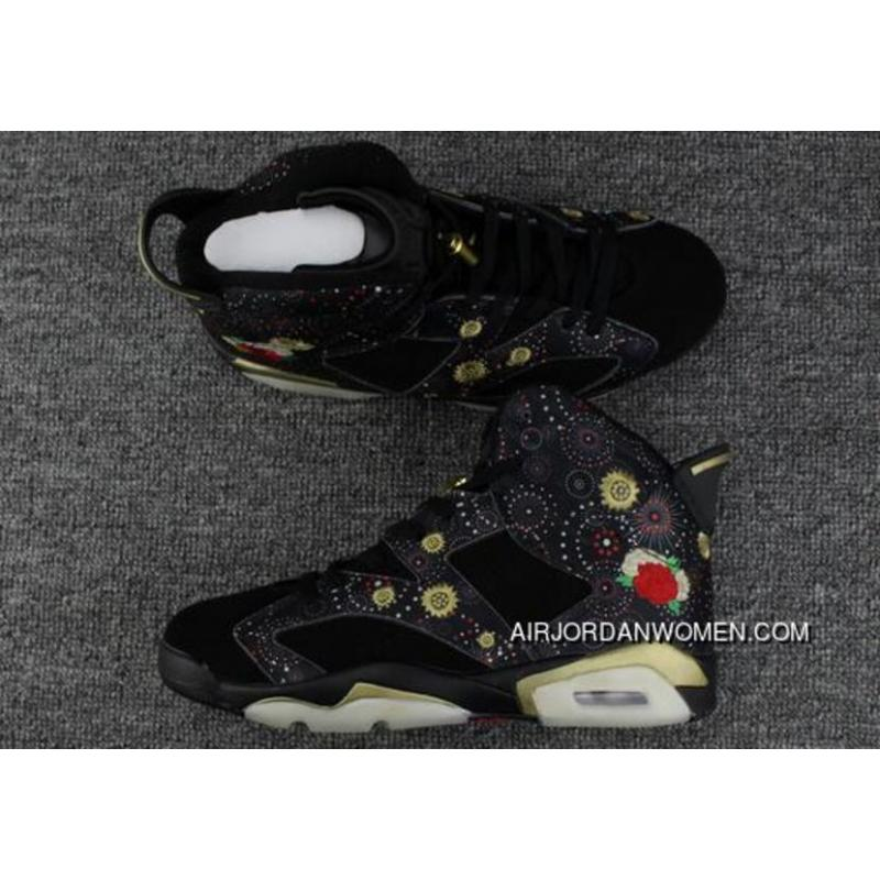 best website 99456 15f3e 2018 Air Jordan 6 Cny Chinese New Year Black/Multi-Color-Metallic Gold  Online