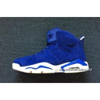 For Sale 2018 Air Jordan 6 Royal Blue Suede