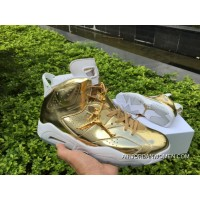 New Year Deals Air Jordan 6 Pinnacle Metallic Gold White